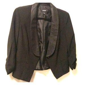 Black snakeskin trim blazer